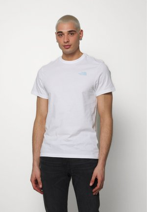 PEAKS TEE - T-shirt z nadrukiem - white