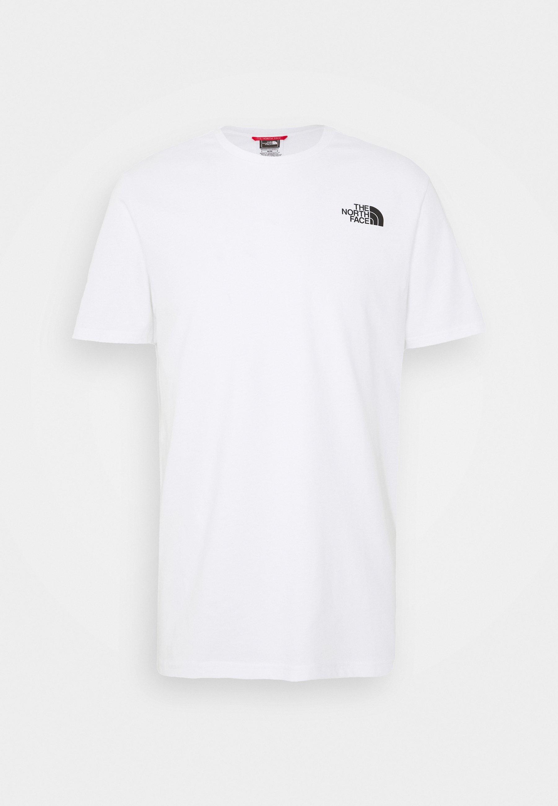 The North Face MENS EXPLORE TEE - T-shirt z nadrukiem - fiery red/ black