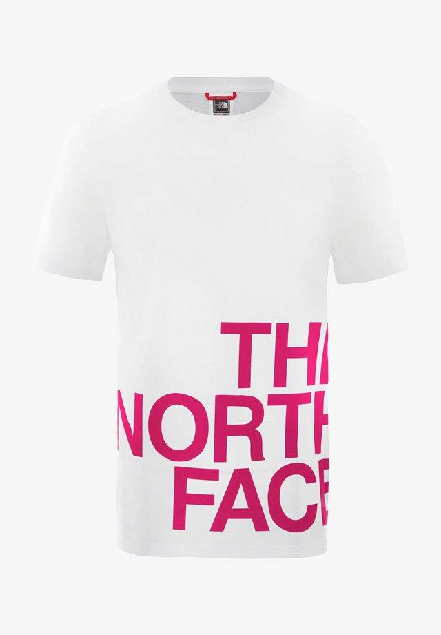 GRAPHIC FLOW - Camiseta estampada - white/pink