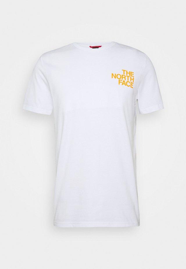 GRAPHIC FLOW  - Camiseta estampada - white/flameorg