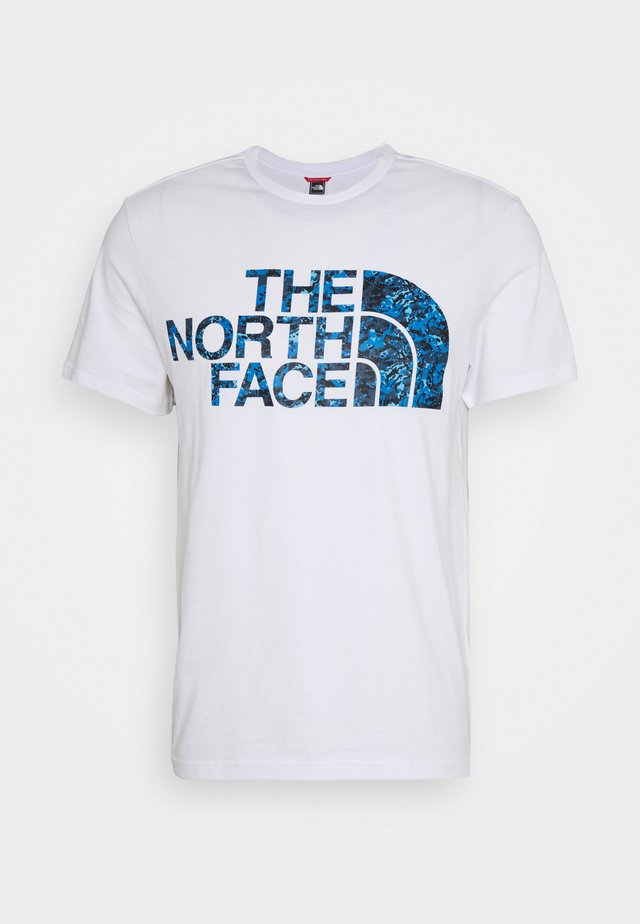 STANDARD TEE - T-shirt z nadrukiem - white/clear lake blue