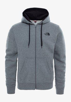 MIT WÄRMENDER  - Zip-up hoodie - mottled grey