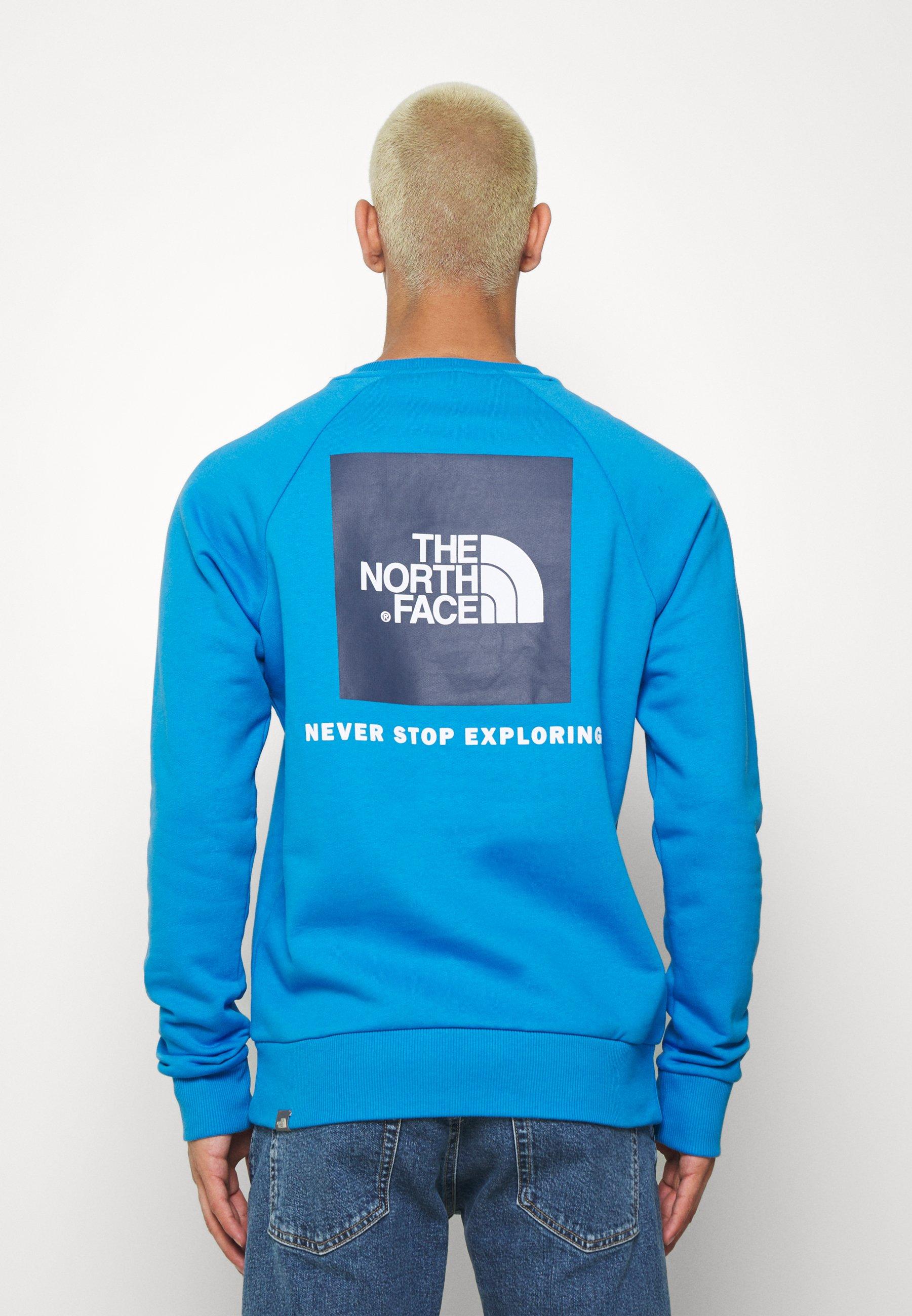 Korkealaatuinen Miesten vaatteet Sarja dfKJIUp97454sfGHYHD The North Face RAGLAN BOX CREW Collegepaita clear lake blue