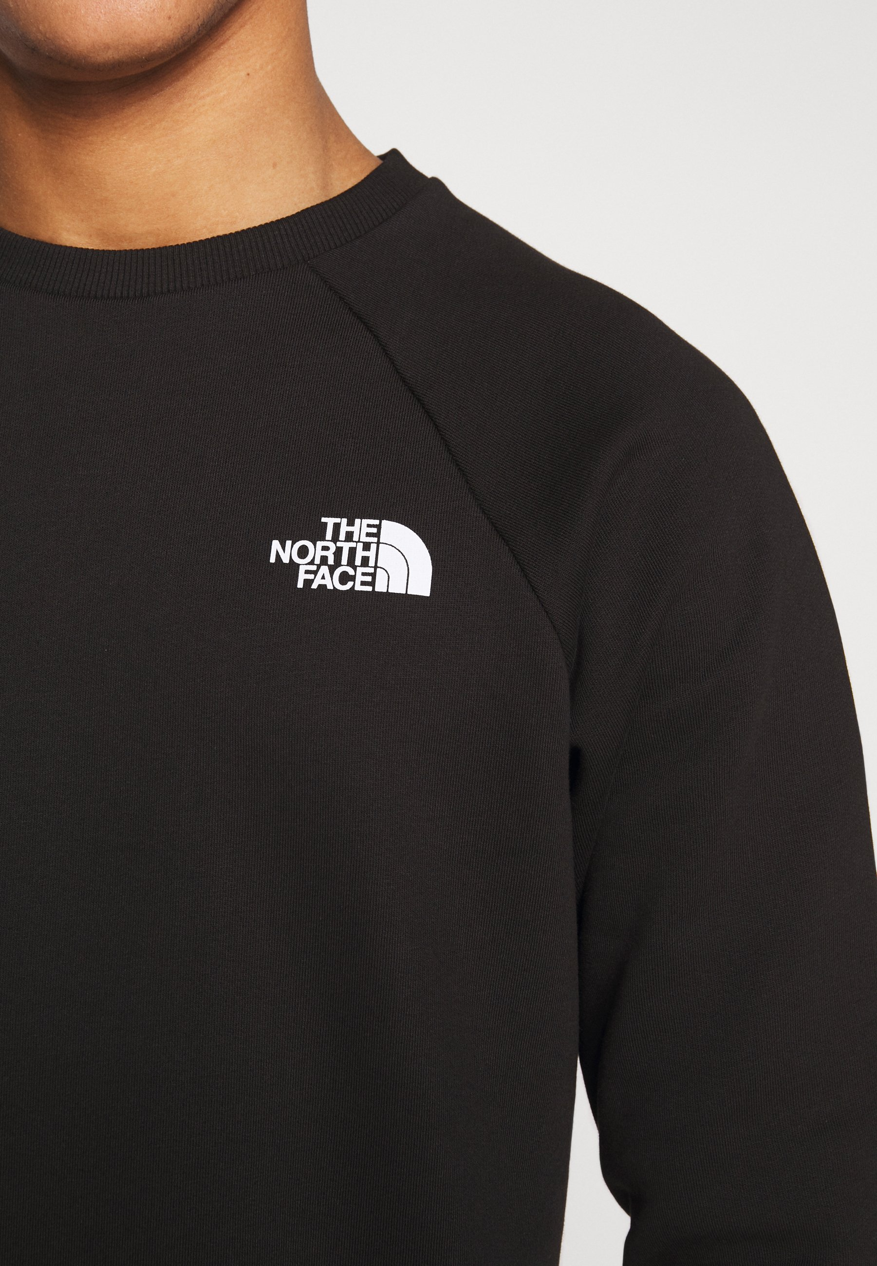 The North Face RAGLAN BOX CREW - Felpa - black/white