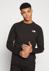 The North Face - RAGLAN BOX CREW - Bluza - black/white - 0