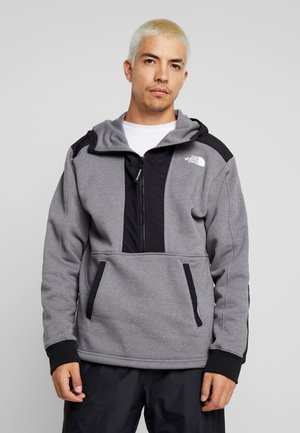 GRAPHIC HOOD - Bluza z kapturem - medium grey heather
