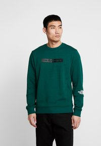 The North Face - LIGHT CREW - Sweatshirt - night green - 0