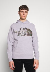 The North Face - STANDARD HOODIE - Huppari - light grey heather - 0
