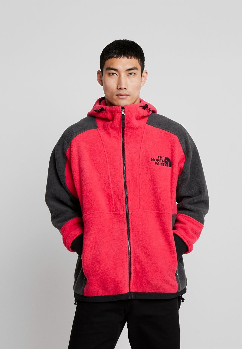The North Face - RAGE CLASSIC HOODIE - Kurtka z polaru - rose red/asphalt grey