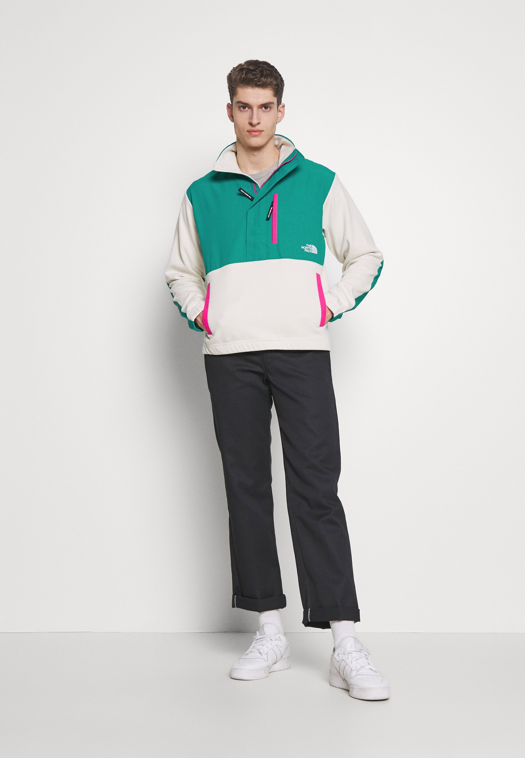 The North Face GRAPHIC COLLECTION - Sweatshirt - vintage white/fanfare green/mr. pink