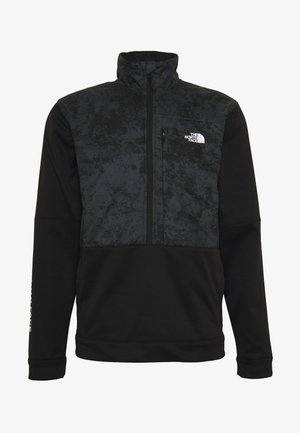 TRAIN LOGO ZIP - Sweater - black/asphalt grey