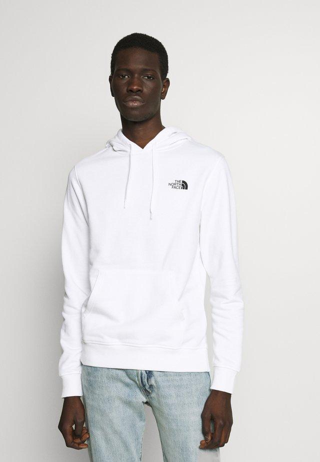 GRAPHIC HOODIE - Bluza z kapturem - white/ black