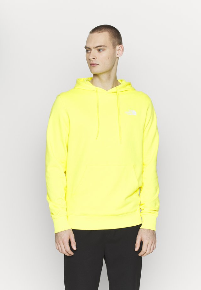 GRAPHIC HOODIE - Bluza z kapturem - lemon/white