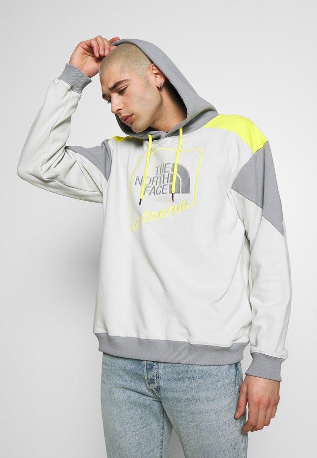 EXTREME HOODIE - Jersey con capucha - tin grey/mid grey/lemon