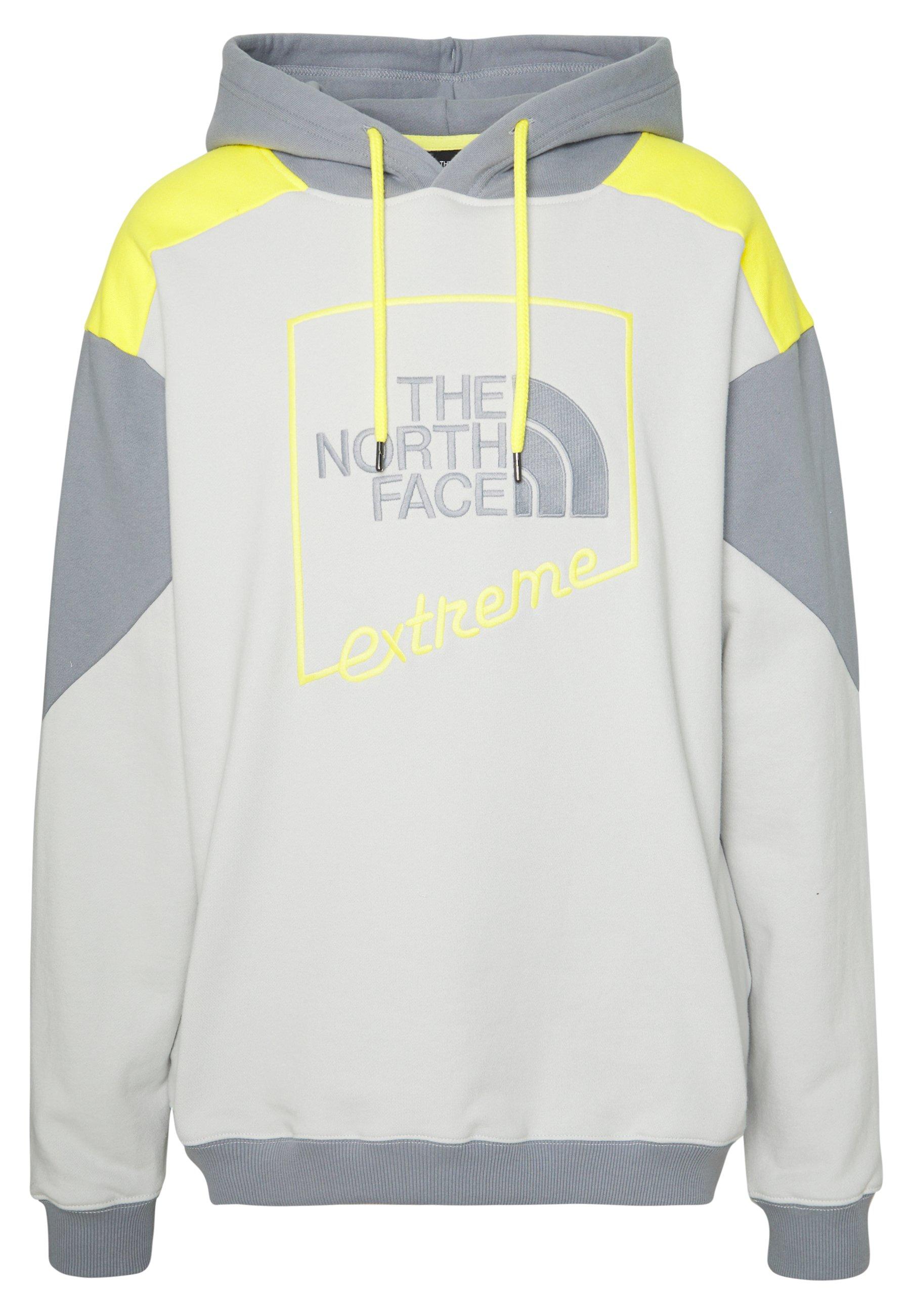 The North Face EXTREME HOODIE - Bluza z kapturem - tin grey/mid grey/lemon