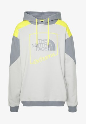 EXTREME HOODIE - Sweat à capuche - tin grey/mid grey/lemon