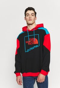 The North Face - EXTREME HOODIE - Huppari - black/fiery red/meridian blue - 0