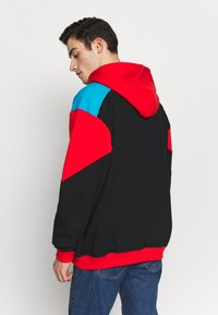 The North Face - EXTREME HOODIE - Huppari - black/fiery red/meridian blue - 2