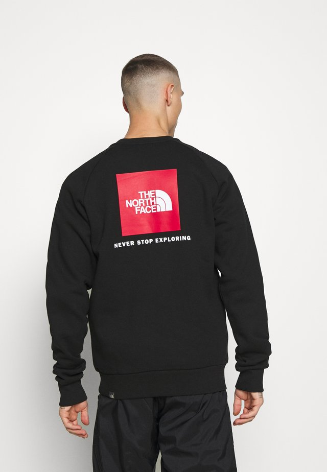 RAGLAN REDBOX CREW NEW - Sweatshirt - black/red