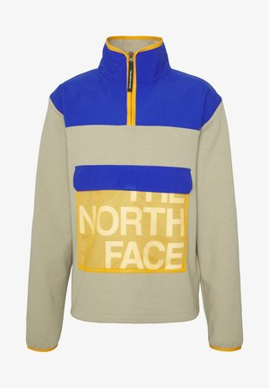 GRAPHIC COLLECTION ZIP - Sweatshirt - twill beige/blue/flame orange