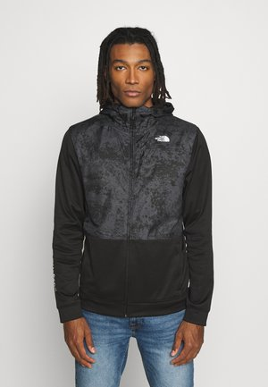 TRAIN N LOGO OVERLAY JACKET - Kurtka wiosenna - black / asphalt grey