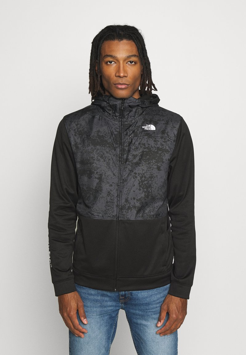 The North Face - TRAIN N LOGO OVERLAY JACKET - Leichte Jacke - black / asphalt grey