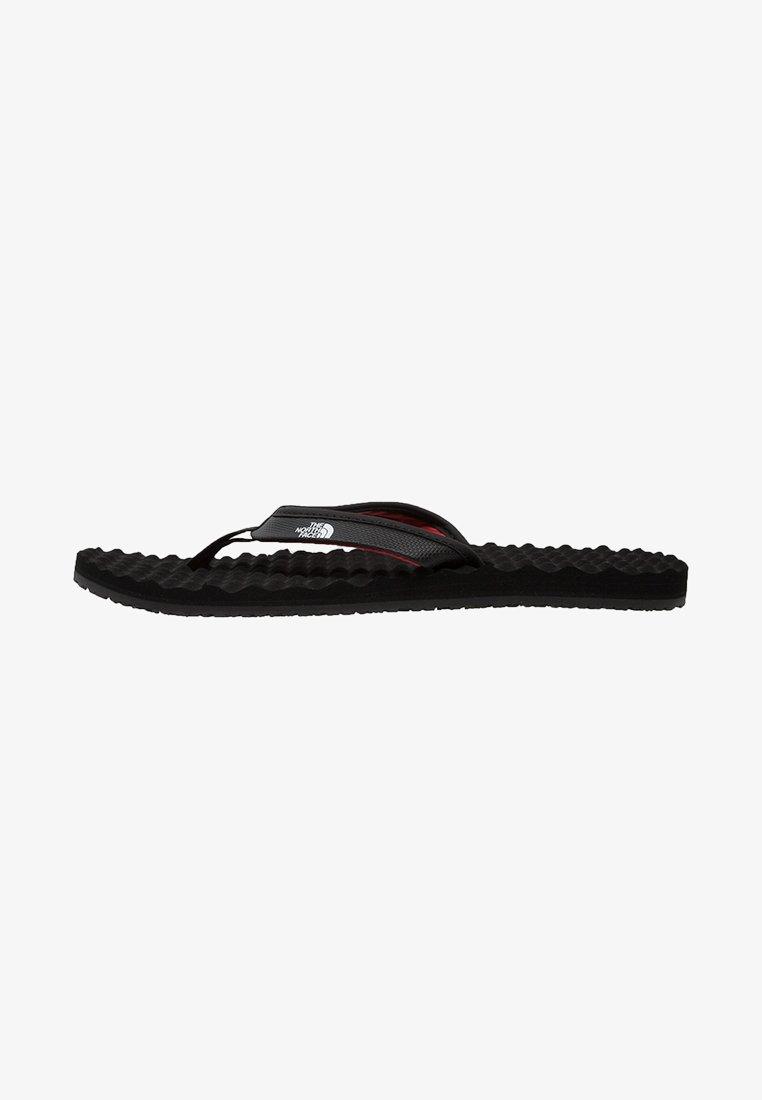 The North Face - BASE CAMP MINI - Sandalias de dedo - black/red