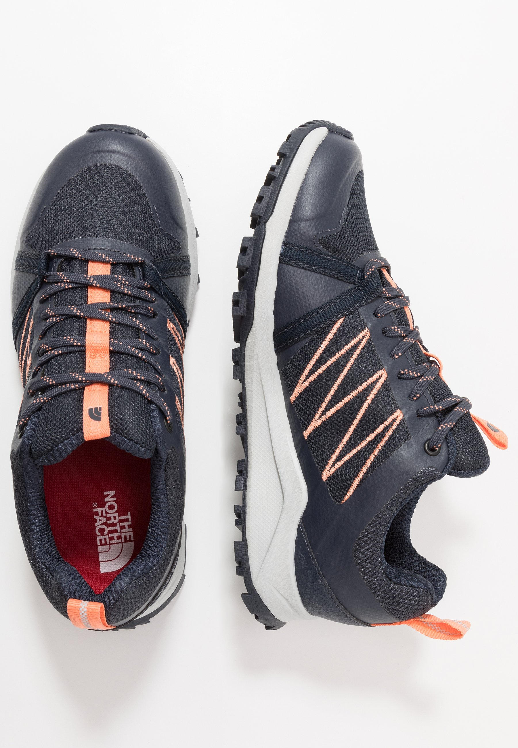 The North Face WOMEN'S LITEWAVE FASTPACK II WP - Obuwie hikingowe - urban navy/cantaloupe