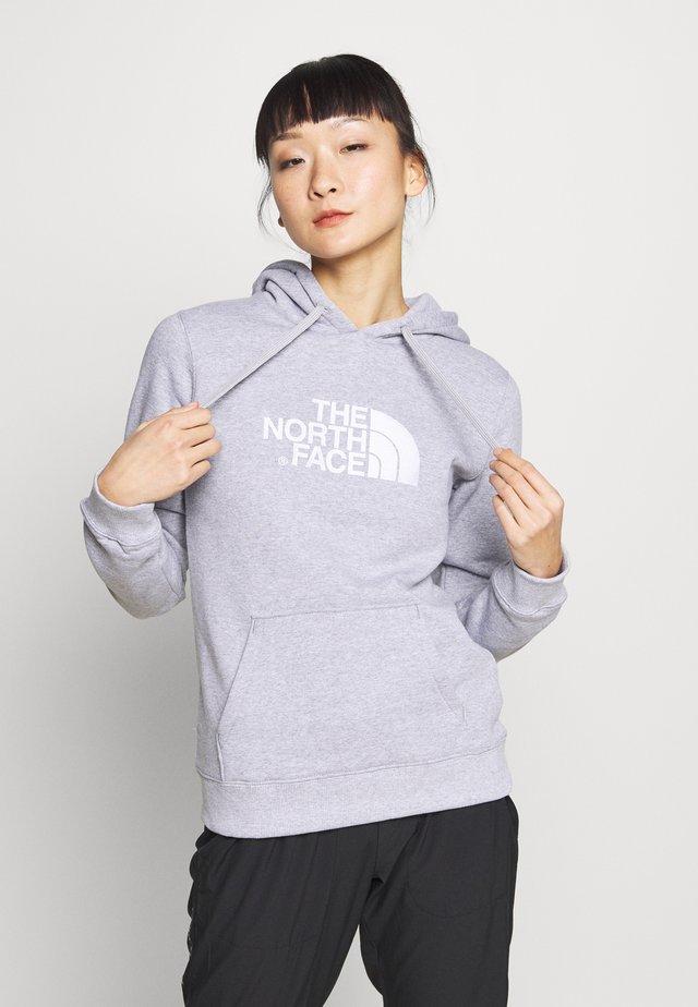 WOMEN'S DREW PEAK PULLOVER HOODIE - Jersey con capucha - light grey heather/white