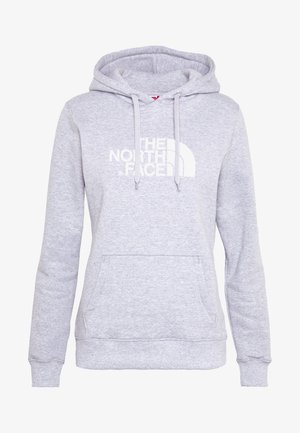 WOMEN'S DREW PEAK PULLOVER HOODIE - Mikina s kapucí - light grey heather/white