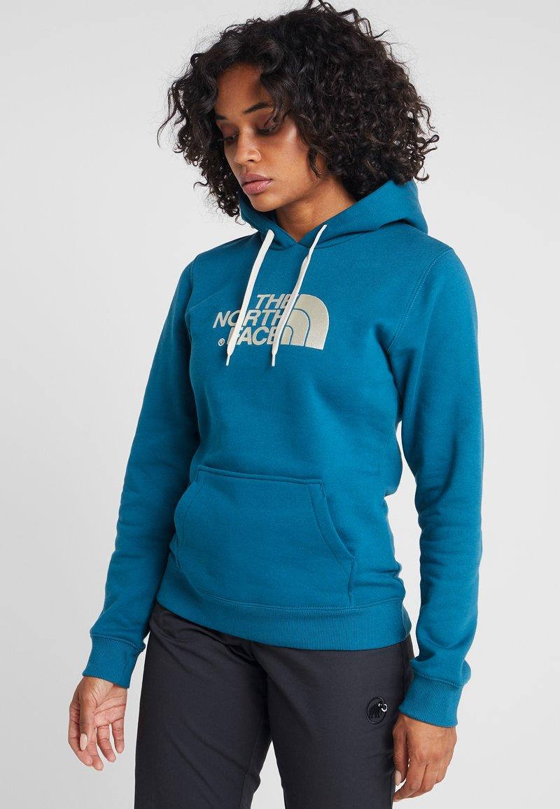 The North Face - WOMEN'S DREW PEAK PULLOVER HOODIE - Hoodie - blue coral/vintage white