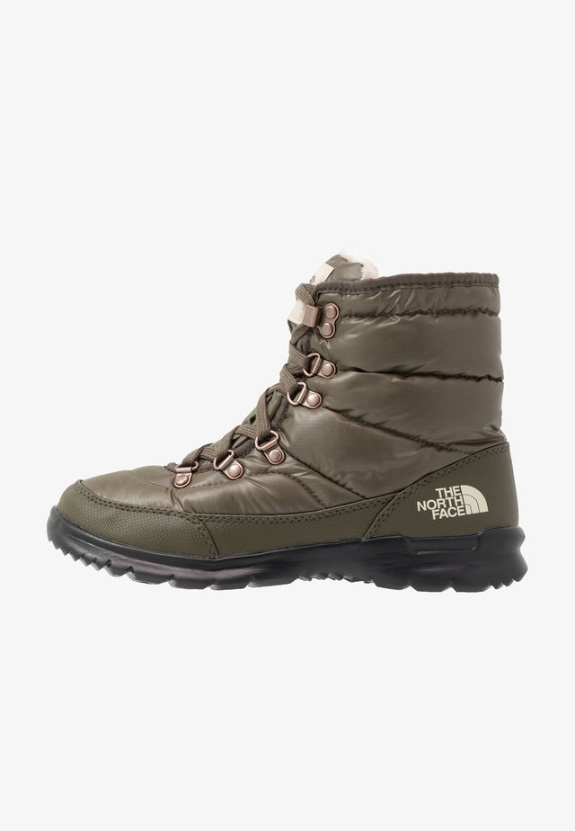 THERMOBALL LACE II - Botas para la nieve - new taupe green/vintage white