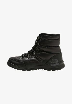 THERMOBALL LACE II - Snowboots  - shiny black/iron gate grey