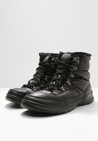 The North Face - THERMOBALL LACE II - Vinterstøvler - shiny black/iron gate grey - 2