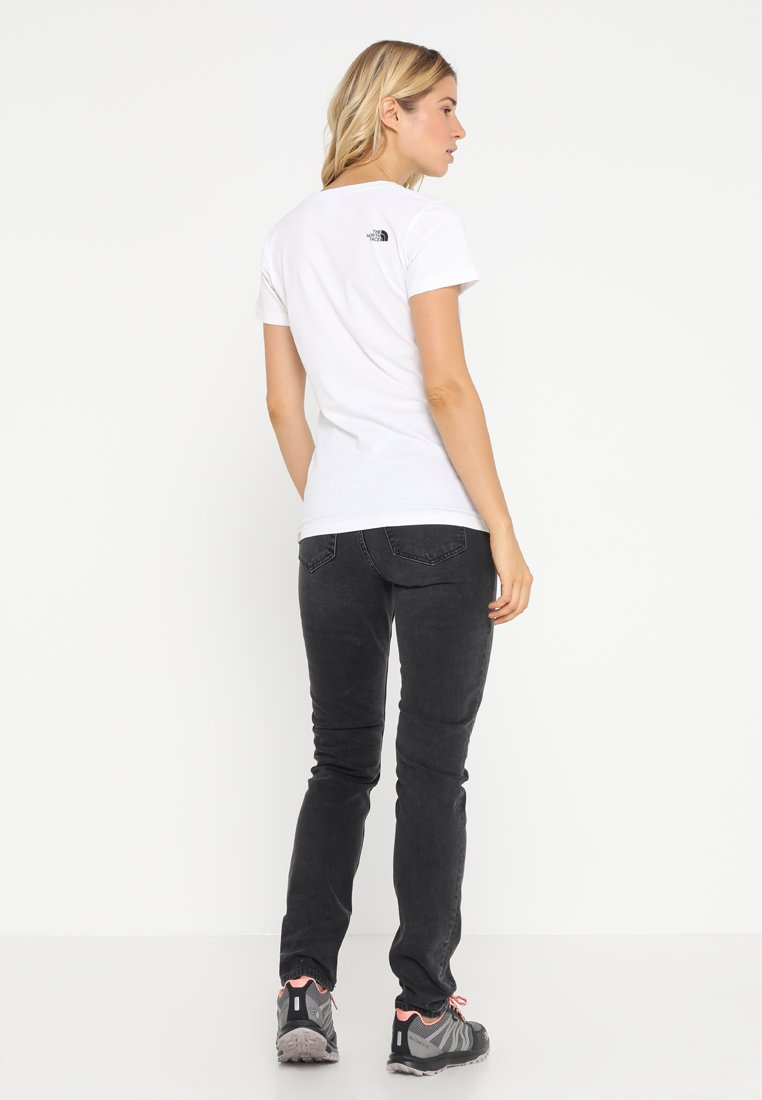 North Face shirt TeeT Imprimé The Easy White deBoWrCx