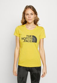 The North Face - WOMENS EASY TEE - T-shirt print - bamboo yellow - 0