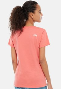 The North Face - WOMENS EASY TEE - T-shirt print - coral - 1