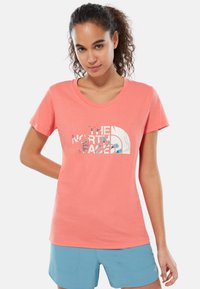 The North Face - WOMENS EASY TEE - T-shirt print - coral - 0