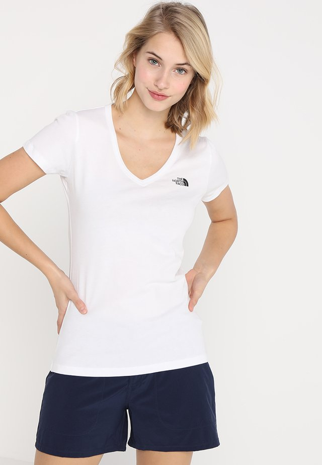 SIMPLE DOME TEE - Camiseta básica - white/black