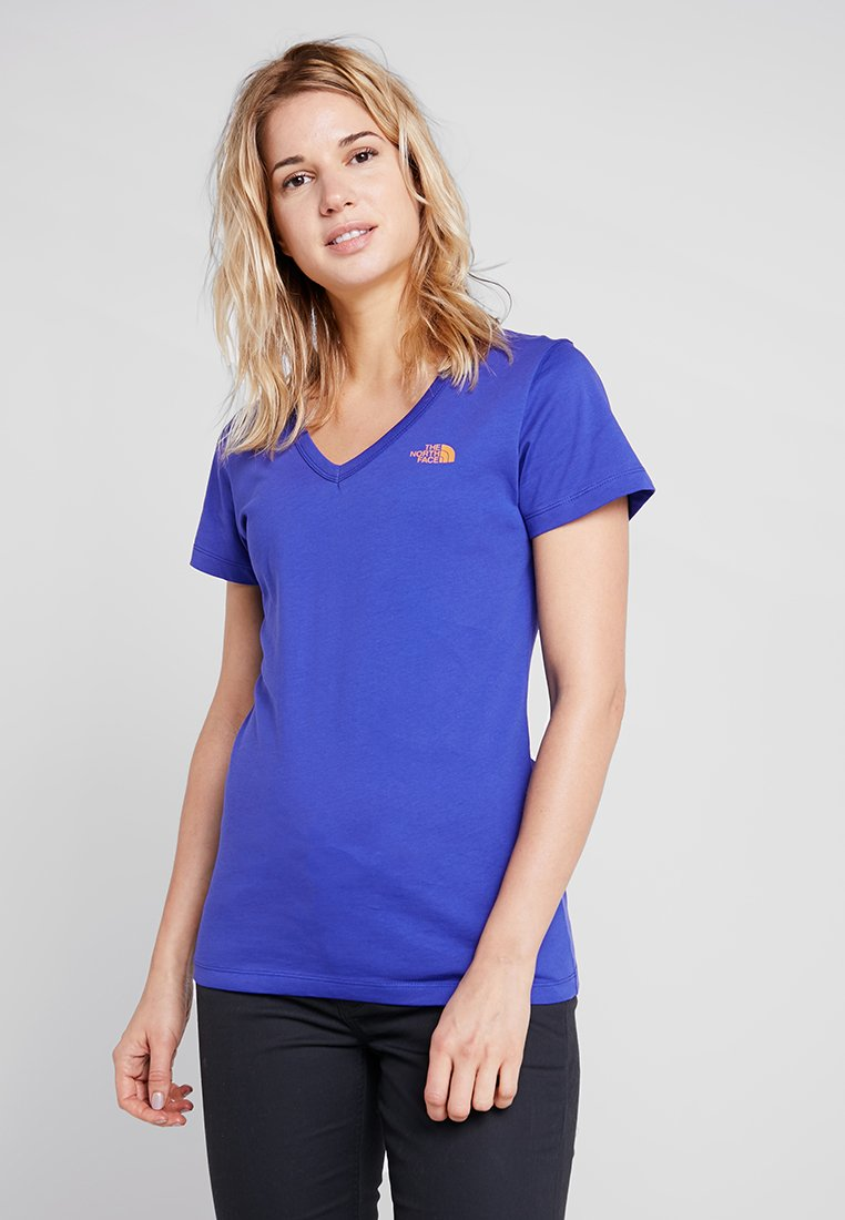 The North Face - SIMPLE DOME TEE - T-shirt basic - lapis blue/citrin yellow