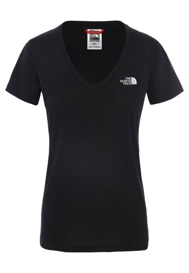 SIMPLE DOME TEE - Camiseta básica - tnf black/tnf white