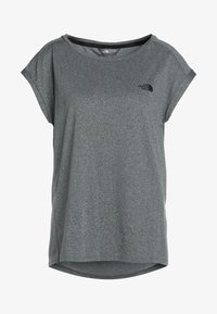 mottled grey/black