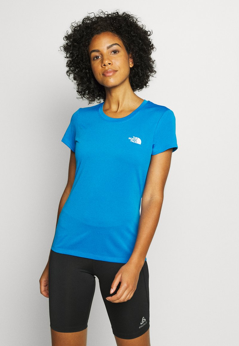 The North Face - WOMENS REAXION CREW - Basic T-shirt - clear lake blue heather