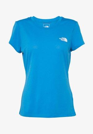 WOMENS REAXION CREW - Basic T-shirt - clear lake blue heather