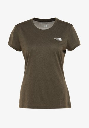 WOMENS REAXION CREW - T-shirt z nadrukiem - green heather