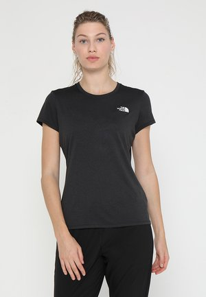 WOMENS REAXION CREW - T-paita - black heather