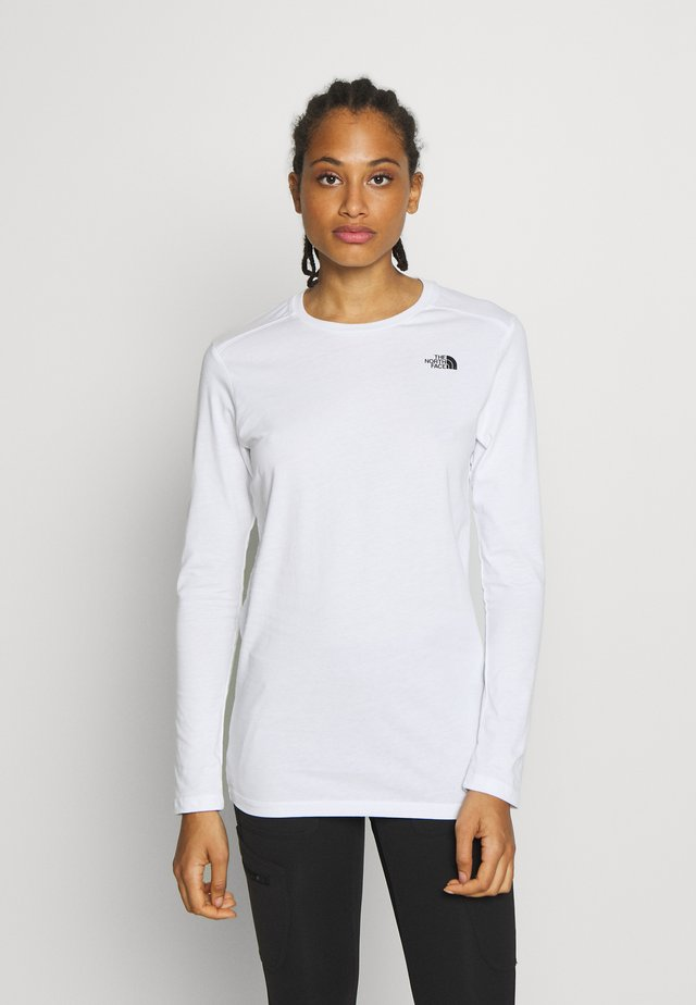 WOMENS SIMPLE DOME TEE - Langærmede T-shirts - white