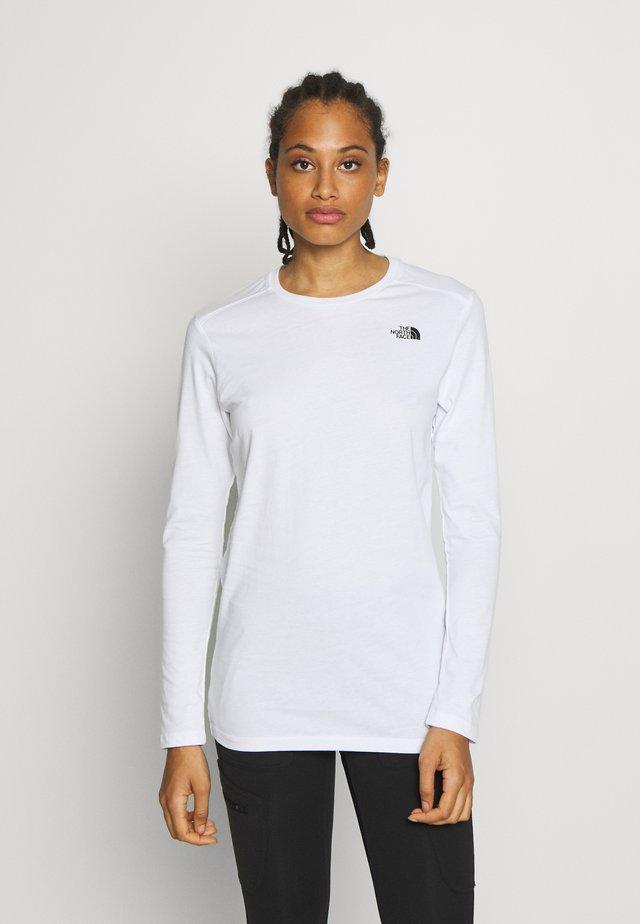 WOMENS SIMPLE DOME TEE - Langarmshirt - white
