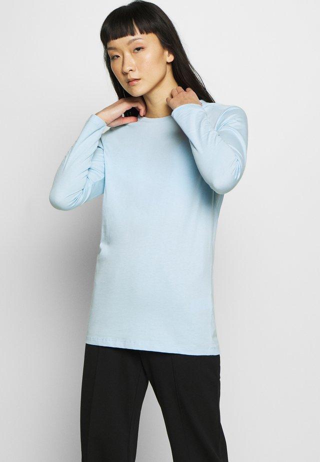 WOMENS SIMPLE DOME TEE - Bluzka z długim rękawem - light blue