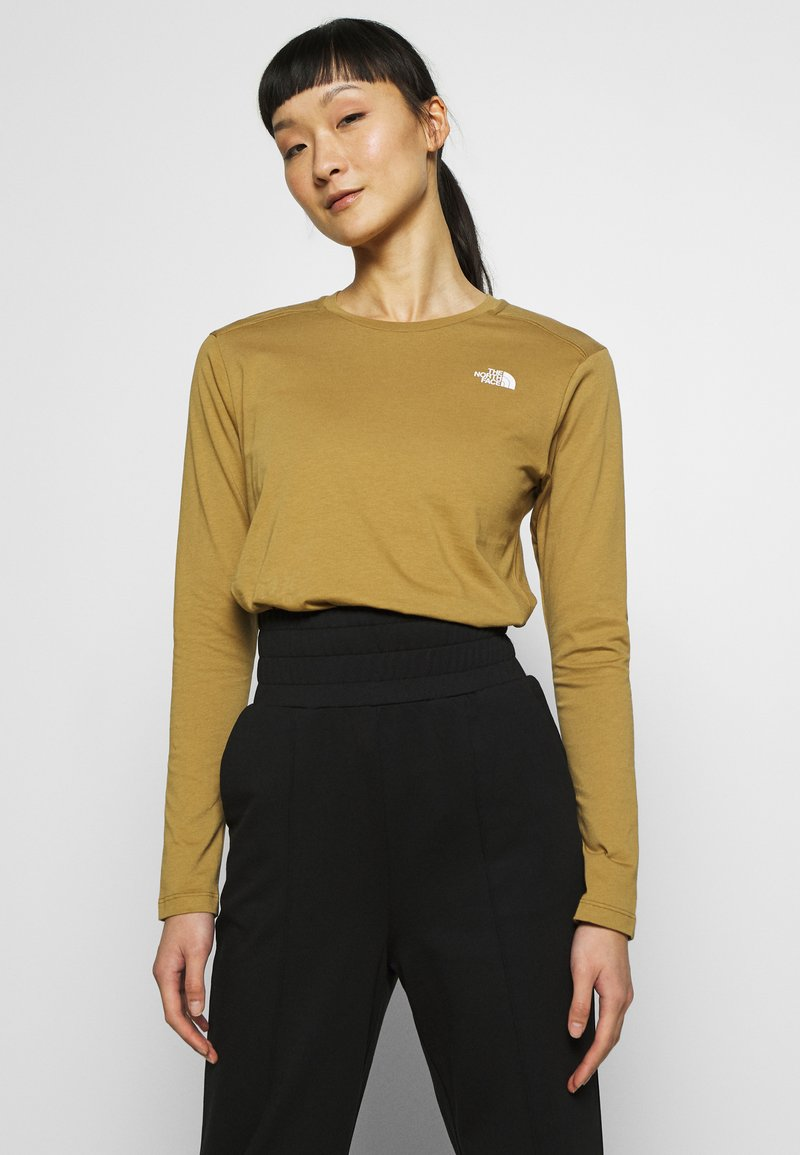 The North Face - WOMENS SIMPLE DOME TEE - Topper langermet - british khaki
